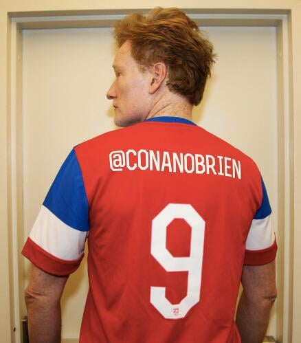 Conan O'Brien got in on the fun ahead of Team USA's winning game against Ghana. Source: Twitter user conanobrien