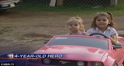 4-Year-Old Saves Sister, 2, from a Frog Prince Drowning