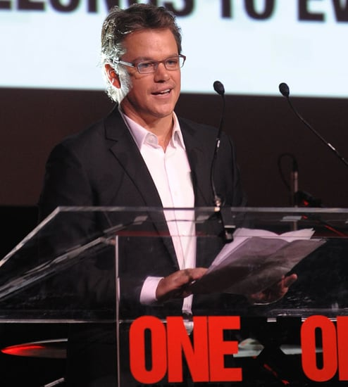 Pictures of Matt Damon, David Arquette, and Patricia Arquette at his ONEXONE event