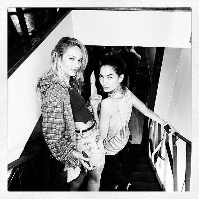 Candice Swanepoel spent time with fellow Victoria's Secret Angel Lily Aldridge. Source: Instagram user lilyaldridge