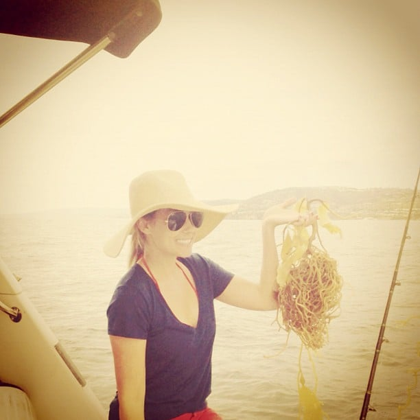 Only Lauren Conrad could look so cute and stylish on a fishing trip . . . Source: Instagram user laurenconrad