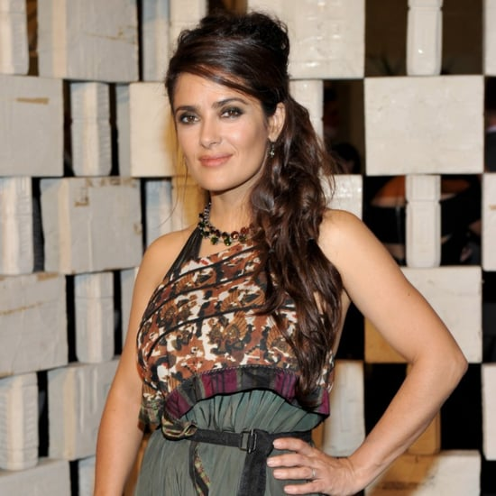 Salma Hayek Wearing Bottega Veneta Boho Dress