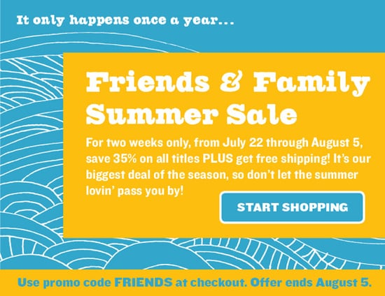 Sale Alert: Chronicle Books Friends and Family Summer Sale