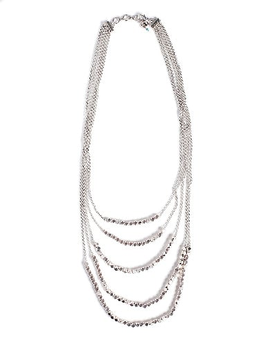 Lucky Brand Silver Multi Layer Necklace ($55)