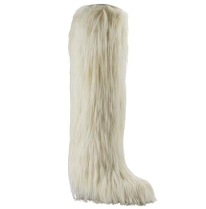Chanel Furry Yeti Boots For Less