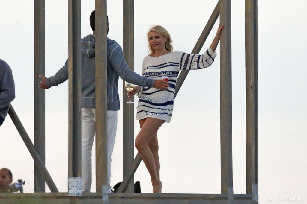 Cameron Diaz chatted with Taylor Kinney.