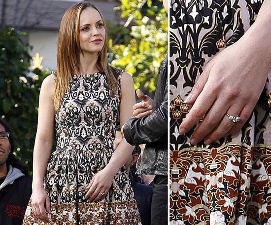 Christina Ricci confirmed her engagement to James Heerdegen in January 2013.