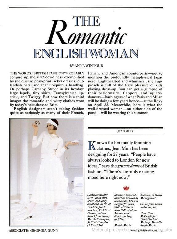 April 1983: The Romantic Englishwoman