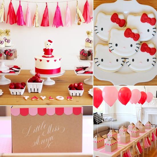 A Modern Hello Kitty Birthday Party