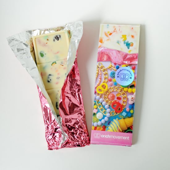 White Chocolate Bar Filled With Gummy Candy