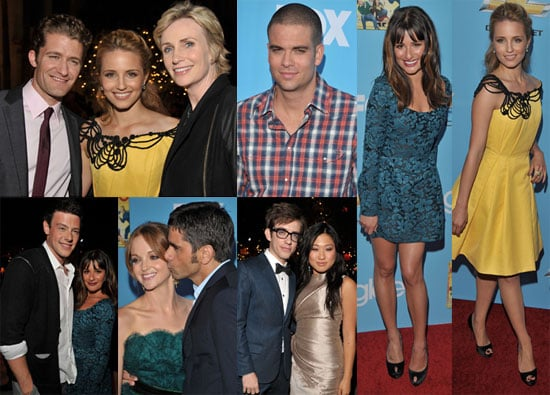 Pictures of Lea Michele, Chris Colfer, Jane Lynch, Matthew Morrison, and the Cast of Glee at Season Two Premiere