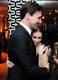 Jon Hamm hugged Zosia Mamet at HBO's post-Globes party.