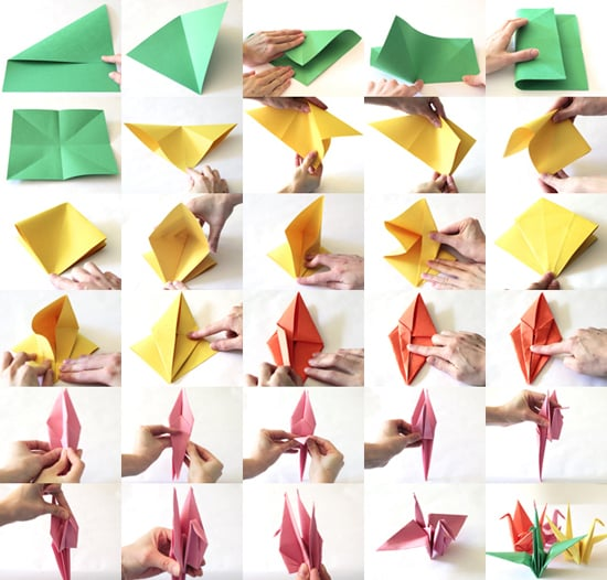 How to Make Paper Cranes For Japan Relief