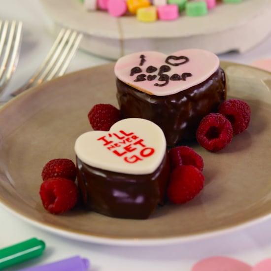 Chocolate Conversation Heart Cakes
