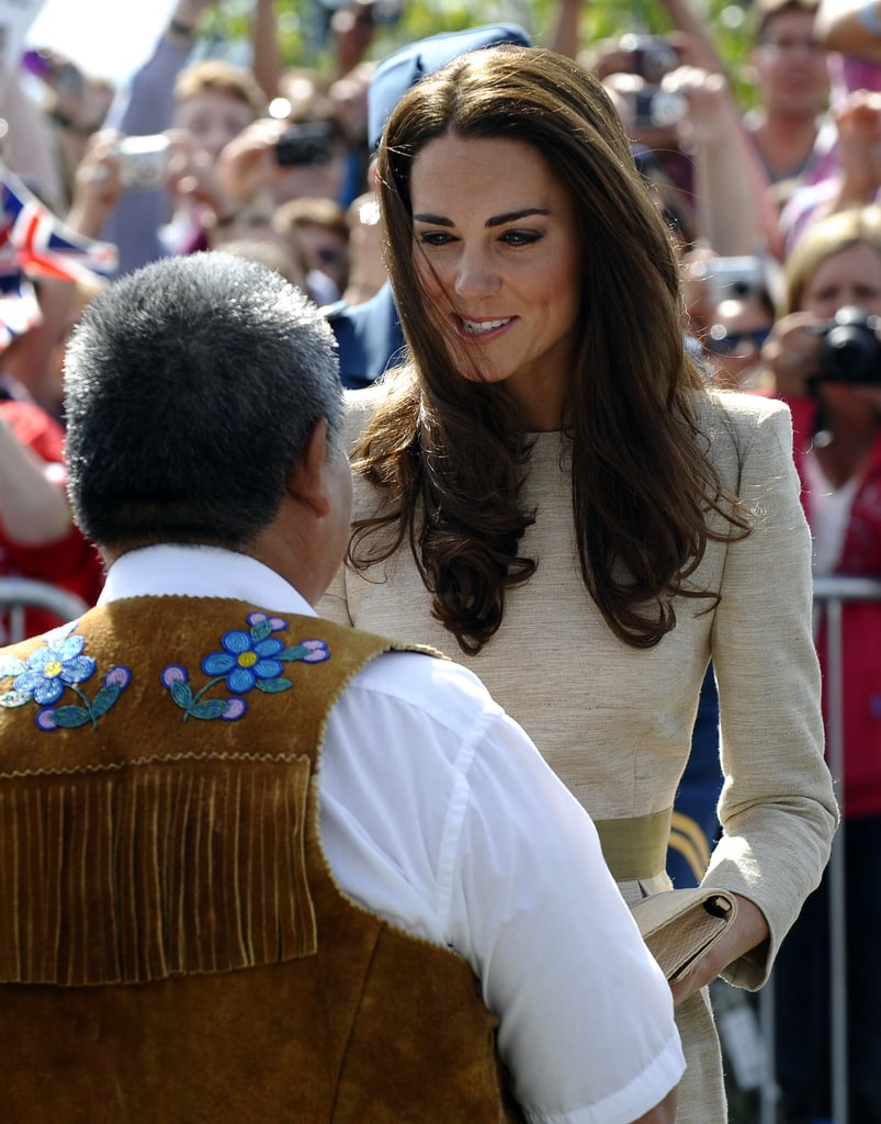 Kate Middleton stopped to chat with attendees.