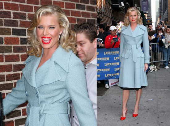 Rebecca's Red Lips Stop by Letterman