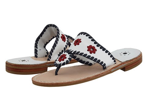 Mom's mini me takes a patriotic turn in these red, white, and blue Jack Rogers sandals ($25, originally $69).