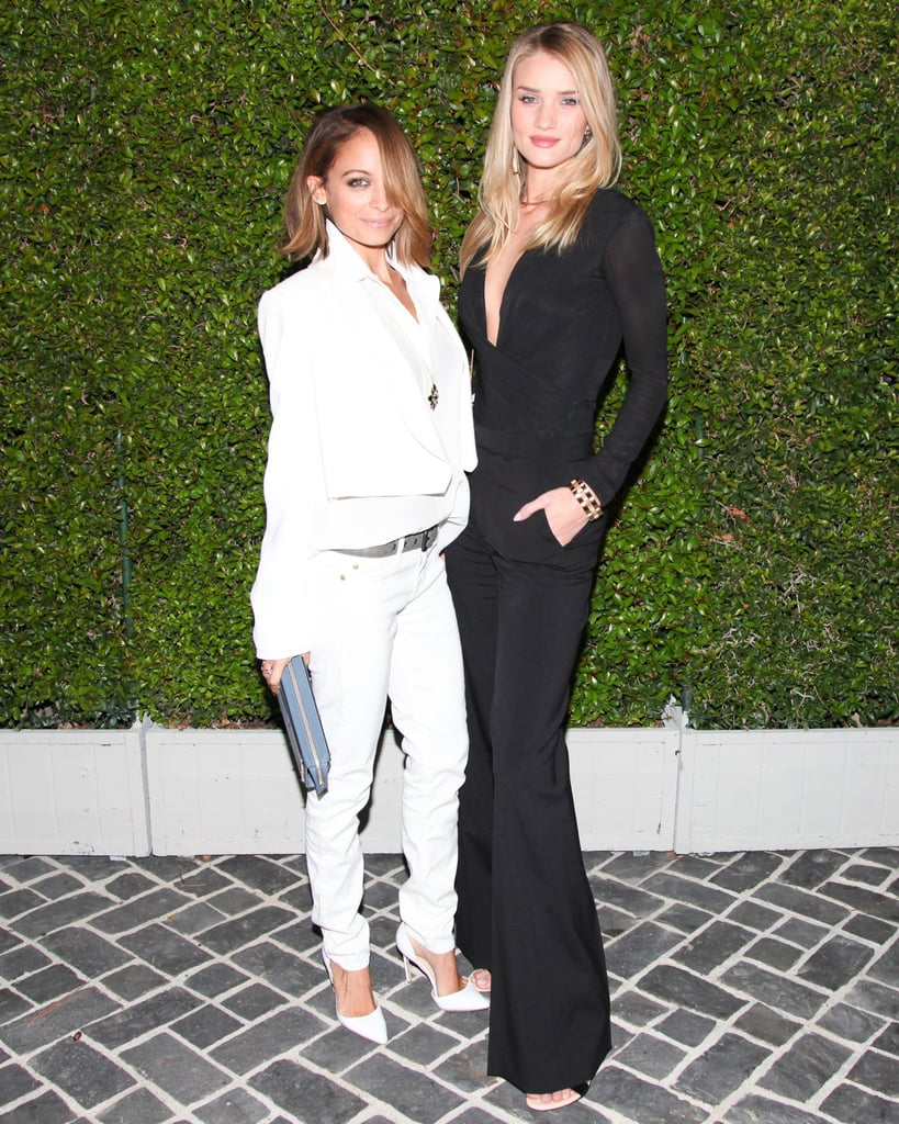 Nicole Richie and Rosie Huntington-Whiteley dressed in opposites at the Chloé LA fashion show.