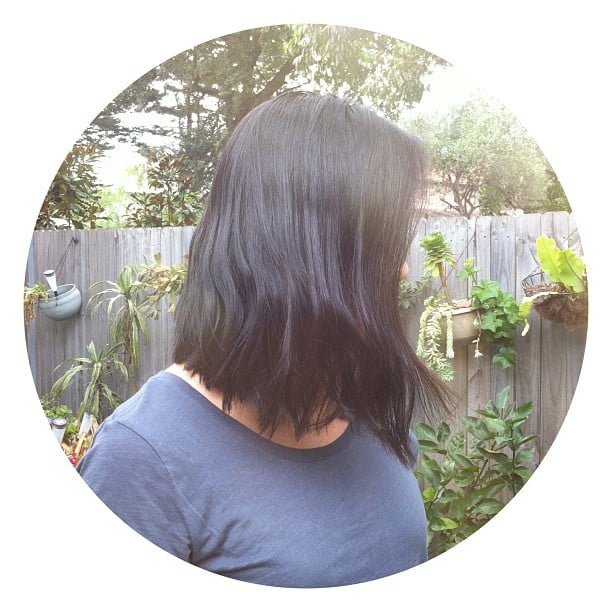 Jess got the chop! We're loving the cool length, and the sight kink halfway down.
