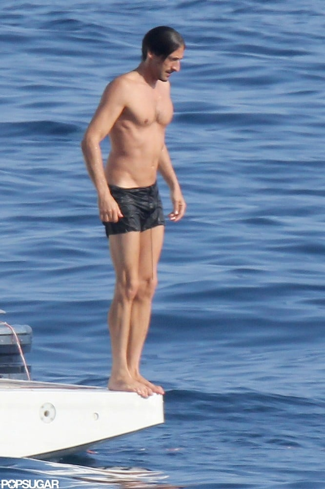 Adrien Brody's body was on display during a July trip to Saint-Tropez.