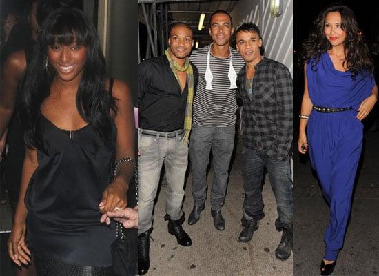 Photos of X Factor Stars JLS Oritse, JB, Marvin, Aston, Tinchy Stryder and Myleene Klass at Alexandra Burke's 21st Birthday