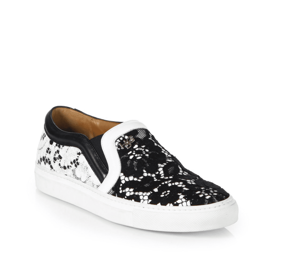 Layered lace takes this Givenchy pair ($650) away from androgynous territory.