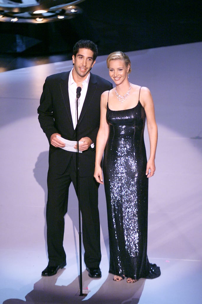 David Schwimmer and Lisa Kudrow presented in 1999.