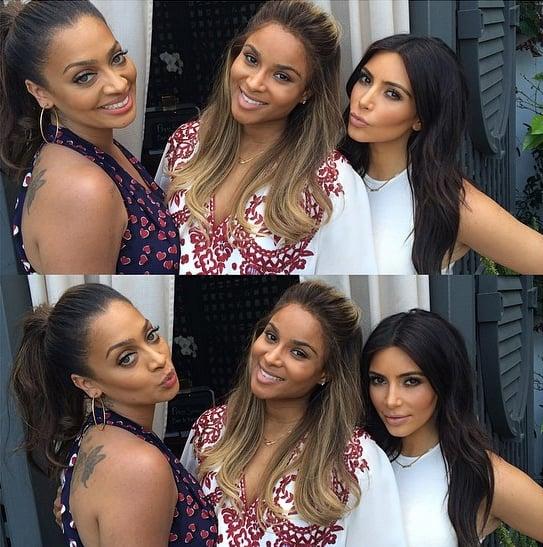 Kim Kardashian at Ciara's Baby Shower | Pictures