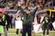 Kevin James got excited on the field at the NY Jets game in October 2012.