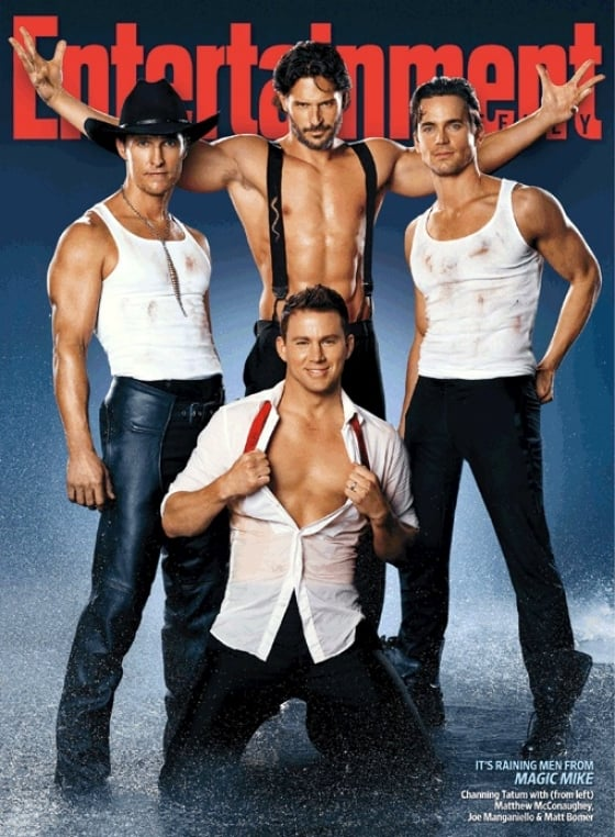 Joe Manganiello strapped on suspenders for July 2013's Entertainment Weekly cover with his fellow Magic Mike men.