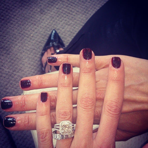 The lovely Katie Hughes of Butter London works on Guliana Rancic's nails for the Met Gala. Source: Instagram user katiejanehuges