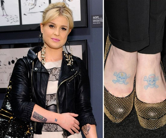 Kelly Osbourne has two skull and crossbones tattoos on both of her feet.