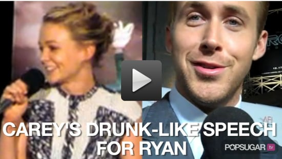 Video of Carey Mulligan Talking About Her Drunk Speeches For Ryan Gosling and the Cast of Drive