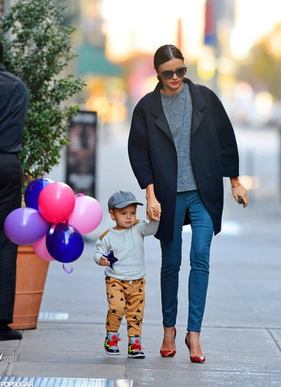 Miranda Kerr and Flynn Bloom took a stroll in NYC.