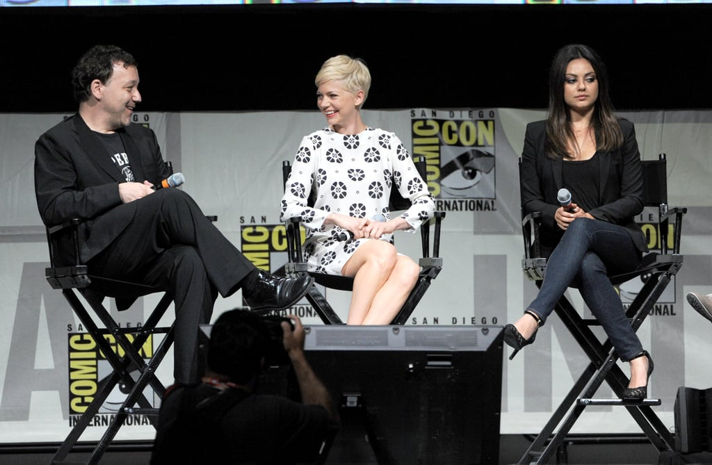 Sam Raimi, Michelle Williams, and Mila Kunis laughed during a discussion about Oz: The Great and Powerful at Comic-Con.