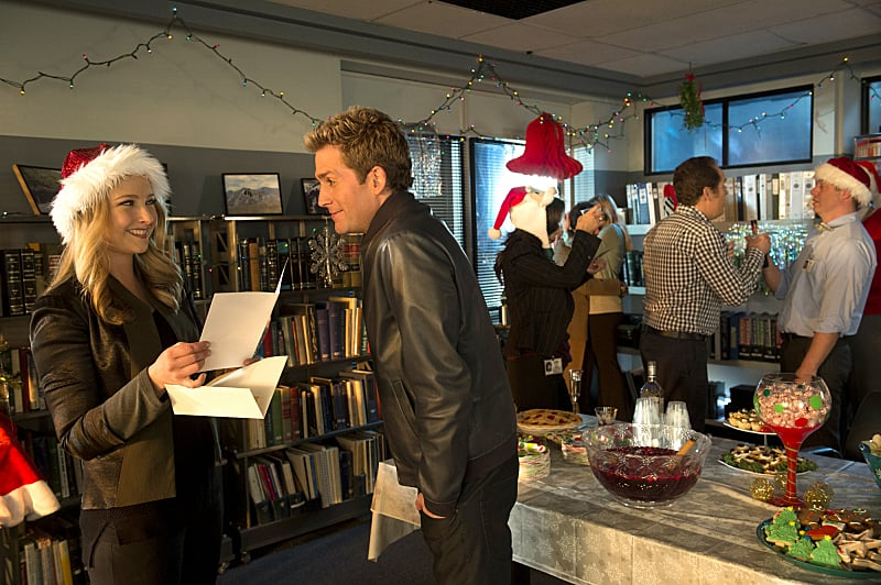 "CSI: Crime Scene Investigation Morgan (Elisabeth Harnois) and Greg (Eric Szmanda) on CSI: Crime Scene Investigation's holiday episode, ""The Lost Reindeer,"" airing on Dec. 11 on CBS."