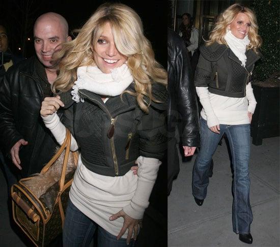 Jessica Flashes Bright Smile Into the Cold Manhattan Night