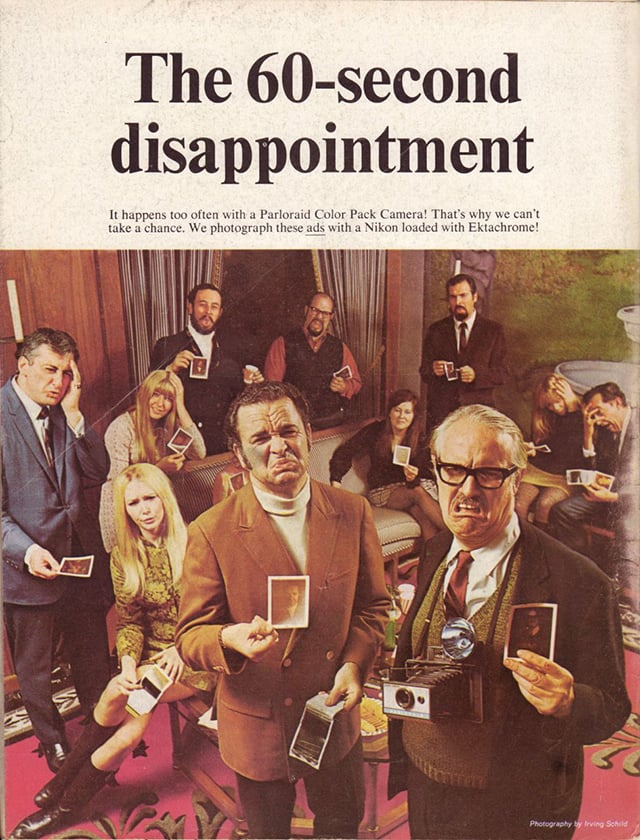 """And in 1969, Mad magazine ran a fake satirical """"60-second disappointment"""" ad on its back cover."""