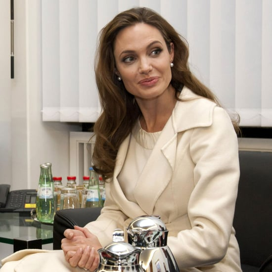 Angelina Jolie Having Tea in Germany Pictures