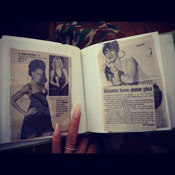 Rihanna found some newspaper clippings of herself in her late grandmother's home. Too sweet. Source: Instagram user badgalriri