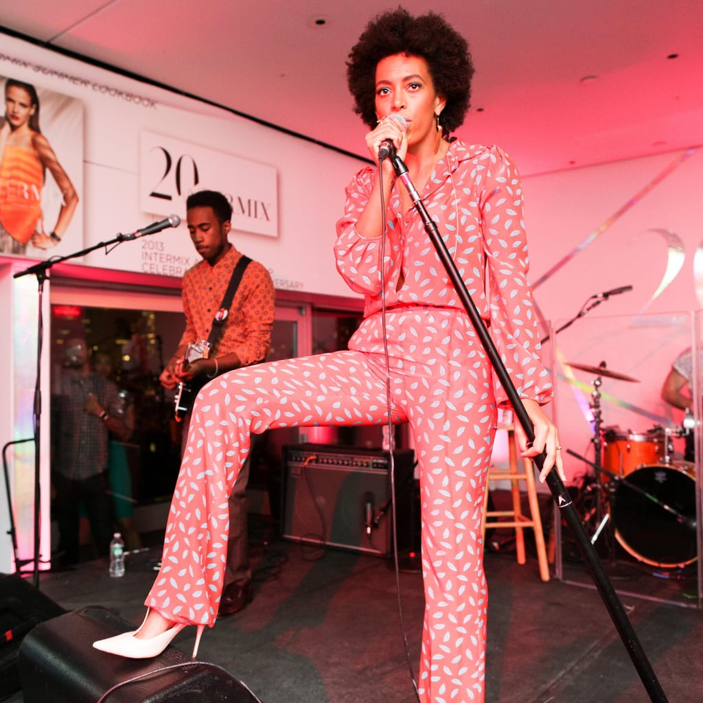 Solange Knowles in Diane von Furstenberg at the Intermix 20th Anniversary Party in New York. Source: Benjamin Lozovsky/BFAnyc.com