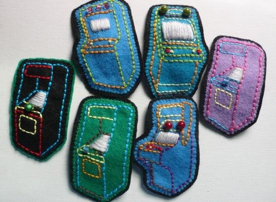 Handmade Arcade Game Brooches