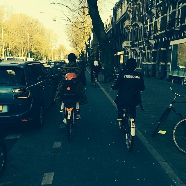 Beyoncé, Jay Z, and Blue Ivy went bike riding on vacation. Source: Instagram user beyonce