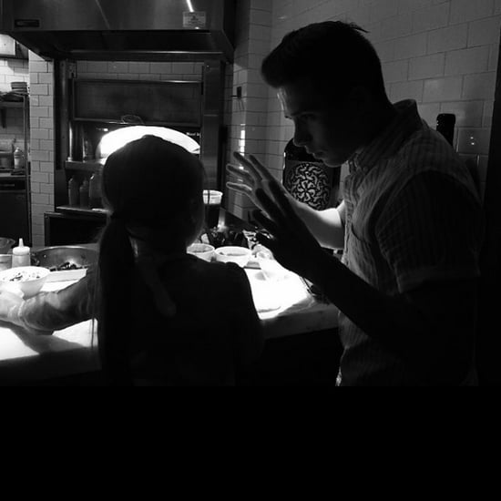 Brooklyn and Harper Beckham Making Pizza Together | Picture
