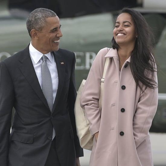 Barack and Malia Obama in Chicago April 2016