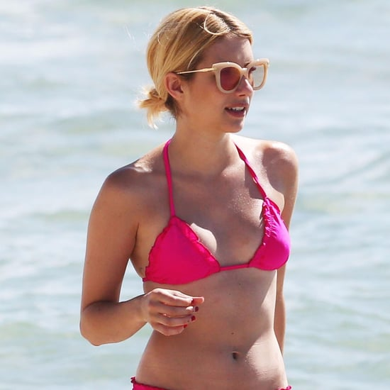 Emma Roberts Wearing Pink Bikini in Miami July 2016
