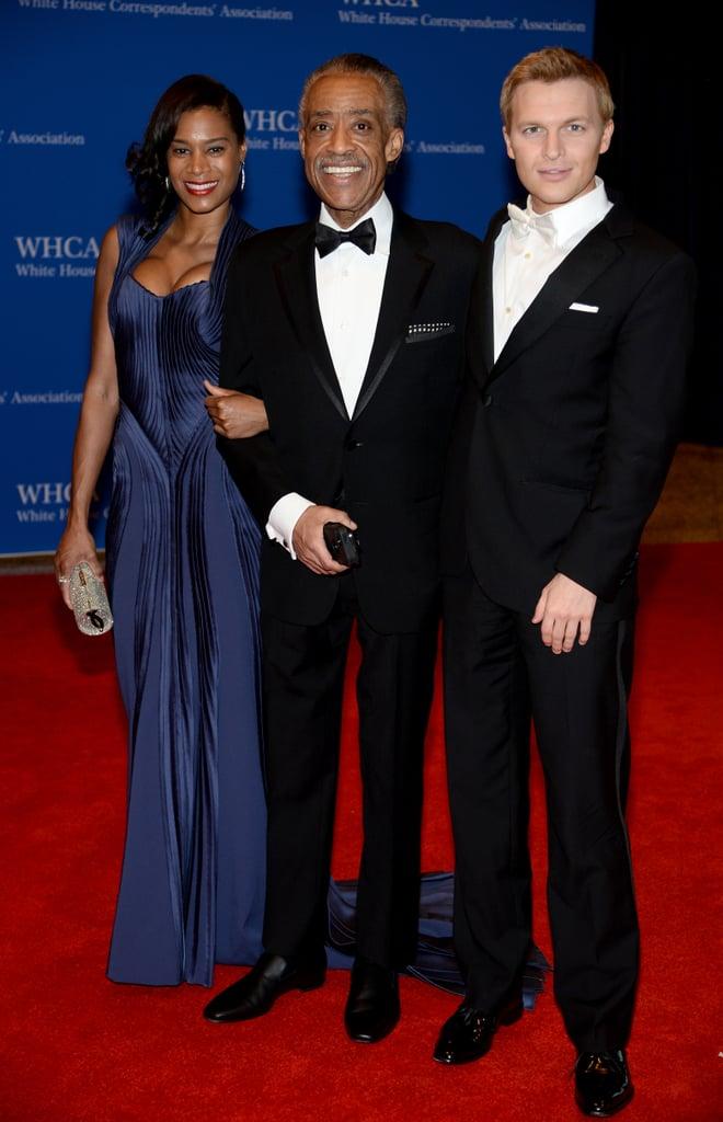 Al Sharpton and his girlfriend, Aisha McShaw, took a photo with Ronan Farrow, Al's MSNBC colleague.