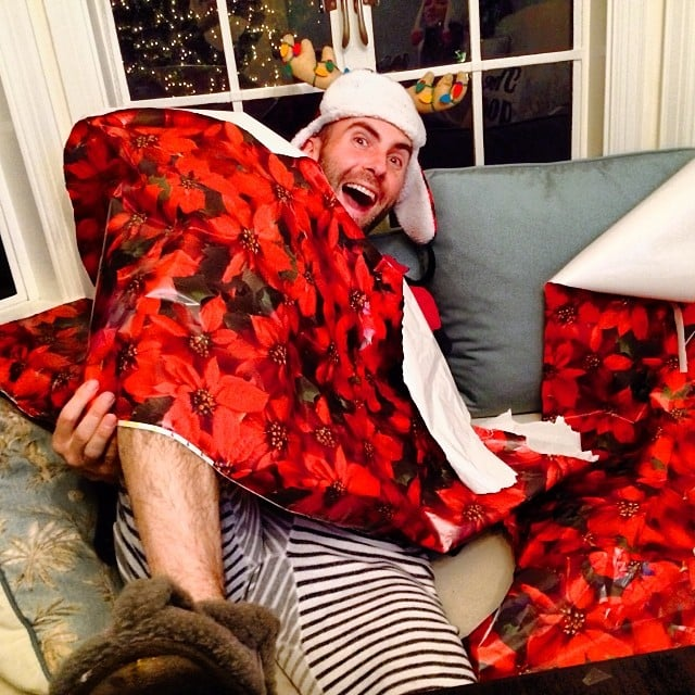 Behati Prinsloo and Adam Levine goofed around together on Christmas Eve. Source: Instagram user behatiiprinsloo