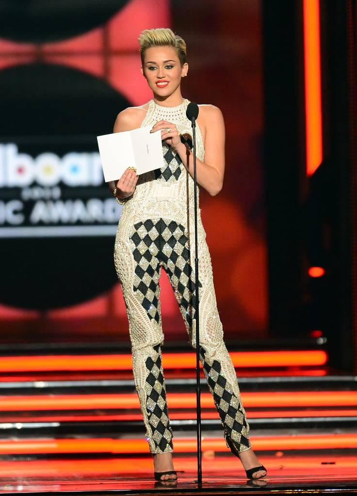 Miley Cyrus was a presenter at the Billboard Music Awards.