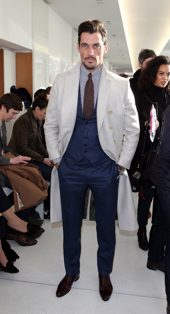 David Gandy at the Richard James London Men's Fashion Week show.